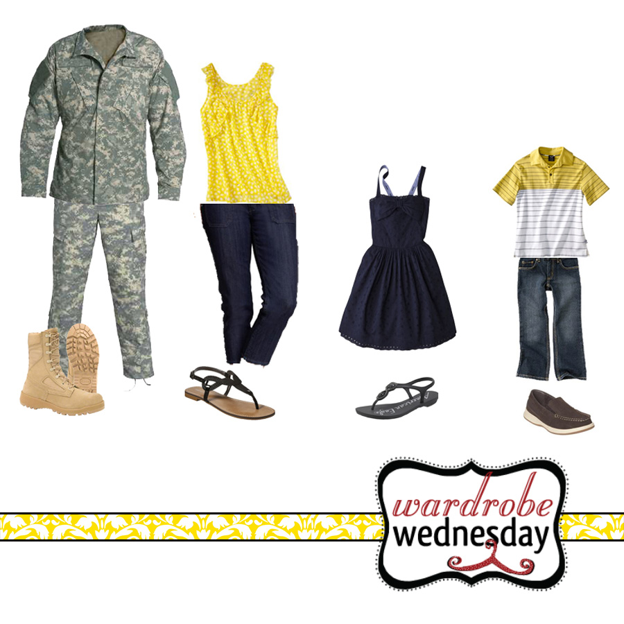 outfit ideas for a military photo shoot