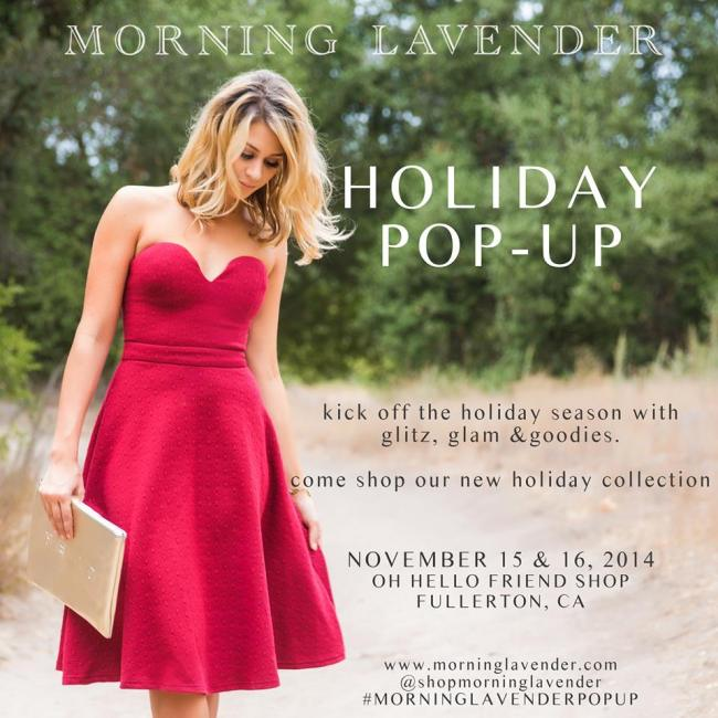 Morning Lavender Holiday Pop-Up Shop