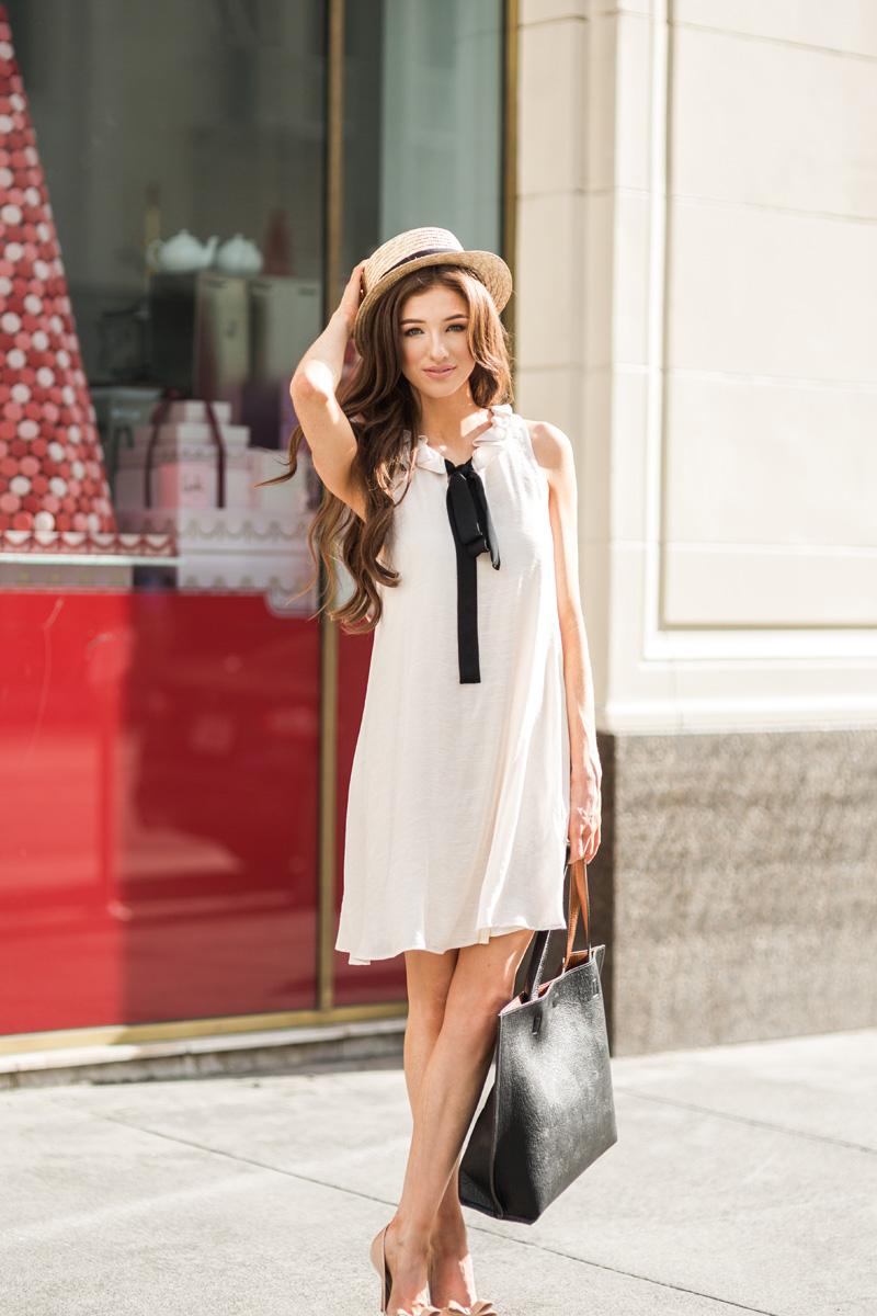 morning lavender cute bow dresses for women - 120