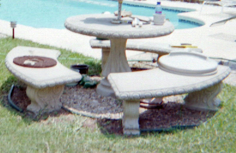 or ceramic tile for mosaic patio table