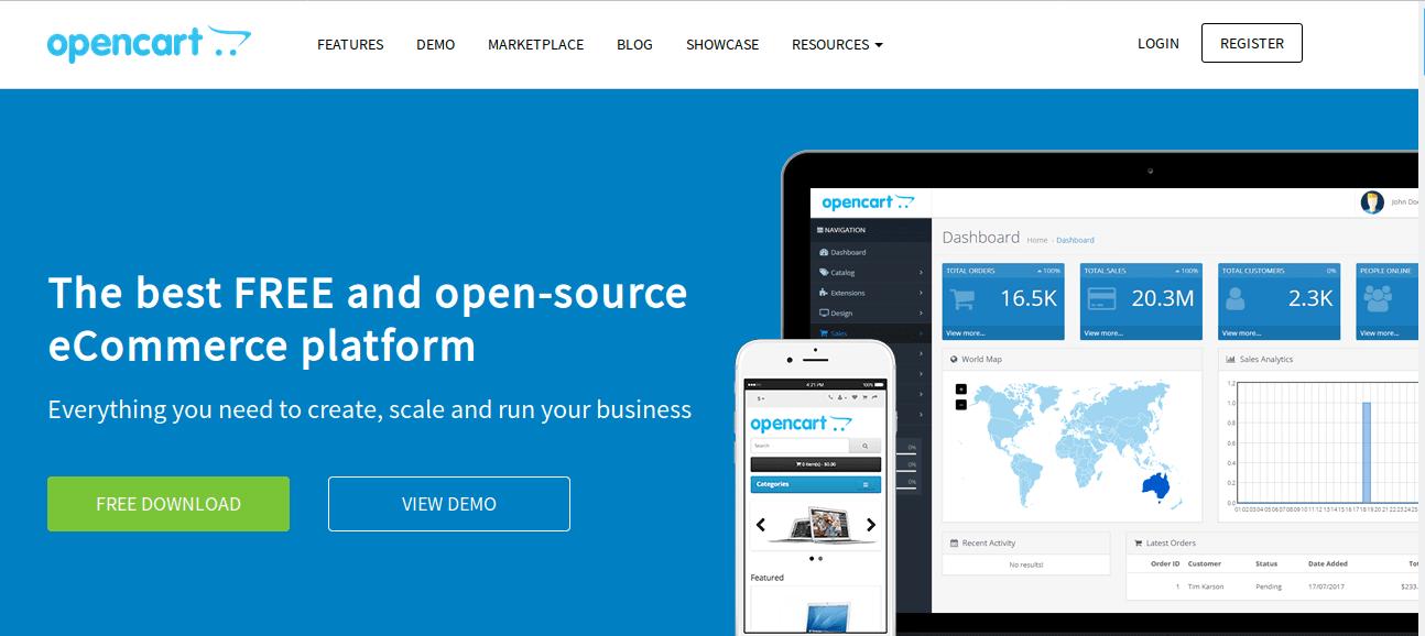منصة أوبن كارت (OpenCart)