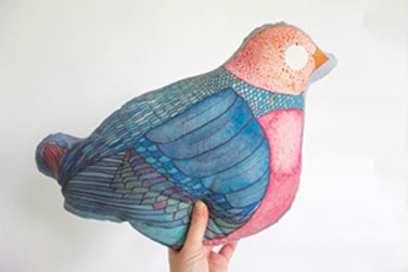 blue bird sewing