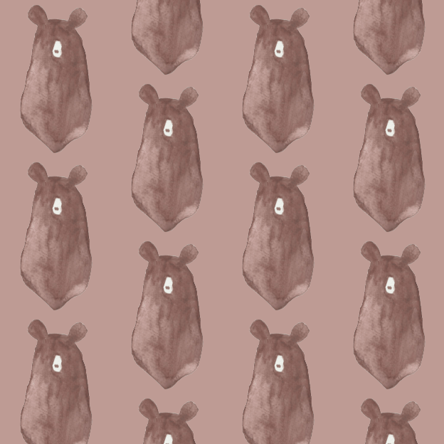 Illustrated bears pattern