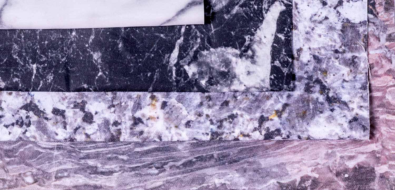 Marmer geprint op textiel