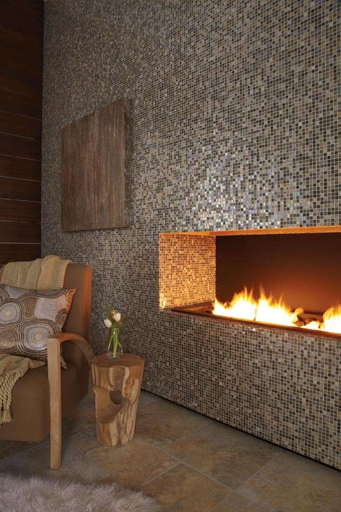 eclectic mosaic art tile fireplaces to