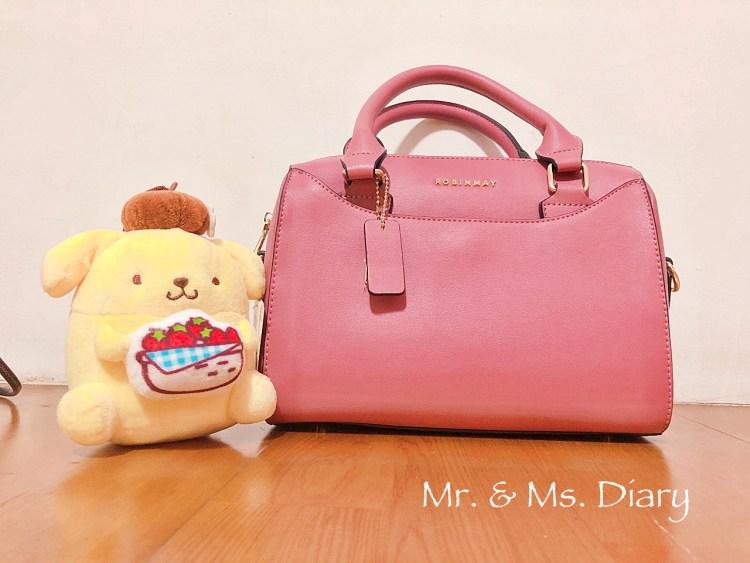 ROBINMAY 赫本波士頓手提包,每個女孩都需要的休閒成熟玫瑰粉色 OL 包 1