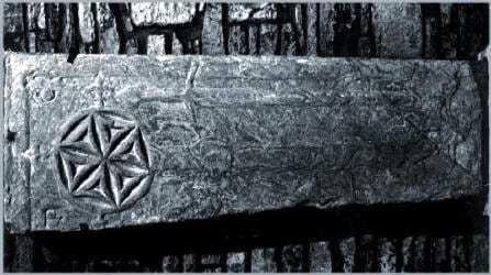 Pierre tombale de chevaliers templiers (Cathédrale St Magnus)