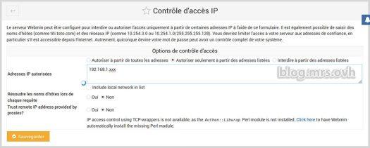 Contrôle d'accès par l'IP