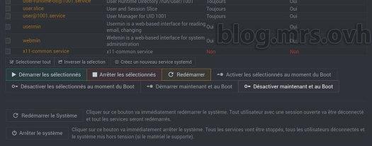 Webmin - Désactiver FirewallD