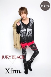 JURY BLACK × X frm