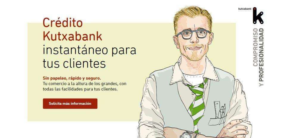El banco ofrece financiación automática y gratuita a sus clientes si van a consumir a los comercios. Kutxabank