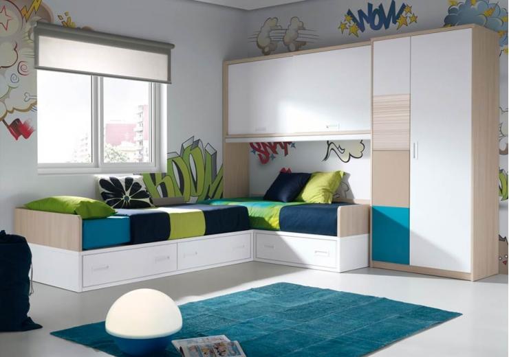 Las camas consejos para amueblar juveniles iii blog - Dormitorios juveniles dobles ...