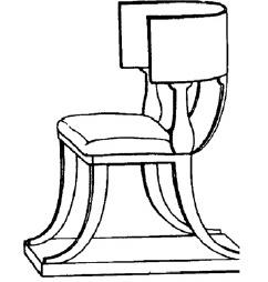 Silla de la antigua Roma(Pile, 1990).