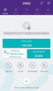 Tampilan Home Aplikasi OVO