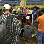 Rodeo All Star interviewing the contestants