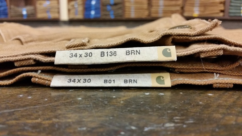Carhartt B136 compared to B01