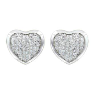 MT Silversmiths Heart Earrings