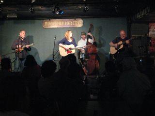 David Thomas, Claire Lynch, Mark Schatz, Jim Hurst at the Station Inn.