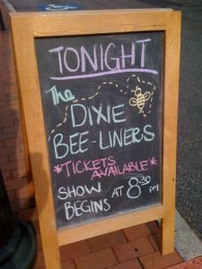 Notice the little bee they drew on their chalkboard marquee. That's attention to detail, right there!