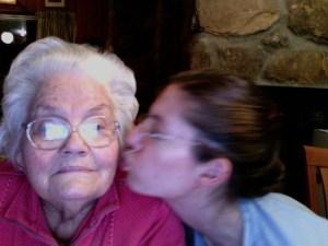 Wynk Hicks (aka Mama, aka Grandmother) and Casey Henry. October 2008