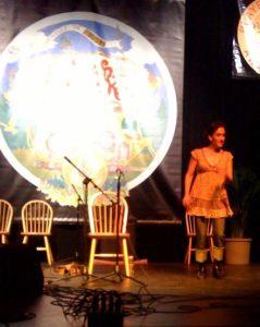 Evie Ladin kicking up her heels.