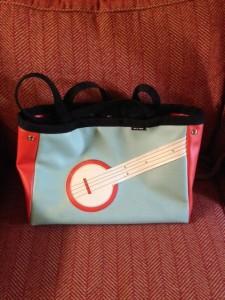 The banjo bag I carry to class.