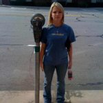 Rachel Johnson---proud to be taller than a parking meter!
