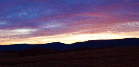 December 22, 2011 Sunrise over the Edinburg Gap