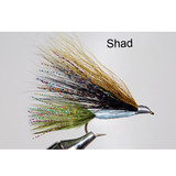 Murray's Bass Skater Streamer - Shad color imitates fleeing minnows - most effectively fished when tied with a riffle hitch and fly fish down and across current