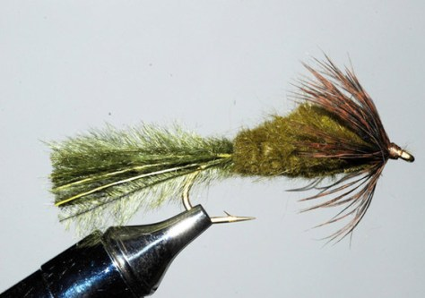 Murray's Olive Strymph Smallmouth Bass Trout Fly Fishing Murray's Fly Shop VA