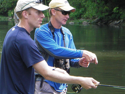 On the Stream Schools Fly FIshing Murray's Fly Shop VA