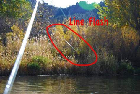 Fly Fishing: Line Flash Fly Rod Casting
