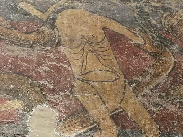 Infern de Santa Maria de Taüll (detalls). Museu Nacional d'Art de Catalunya