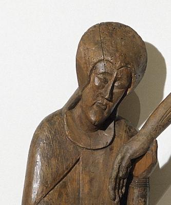 Maria (detall), Davallament de Santa Maria de Taüll, segona meitat del s. XII – s.XIII, Museu Nacional d'Art de Catalunya