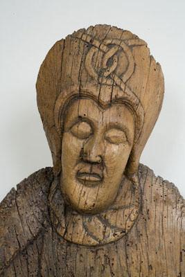 Maria (detall), Davallament d'Erill la Vall, segona meitat del s. XII, Museu Nacional d'Art de Catalunya