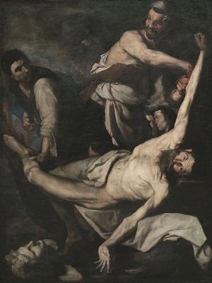 Josep de Ribera, Martiri de sant Bartomeu, 1644, Museu Nacional d'Art de Catalunya.