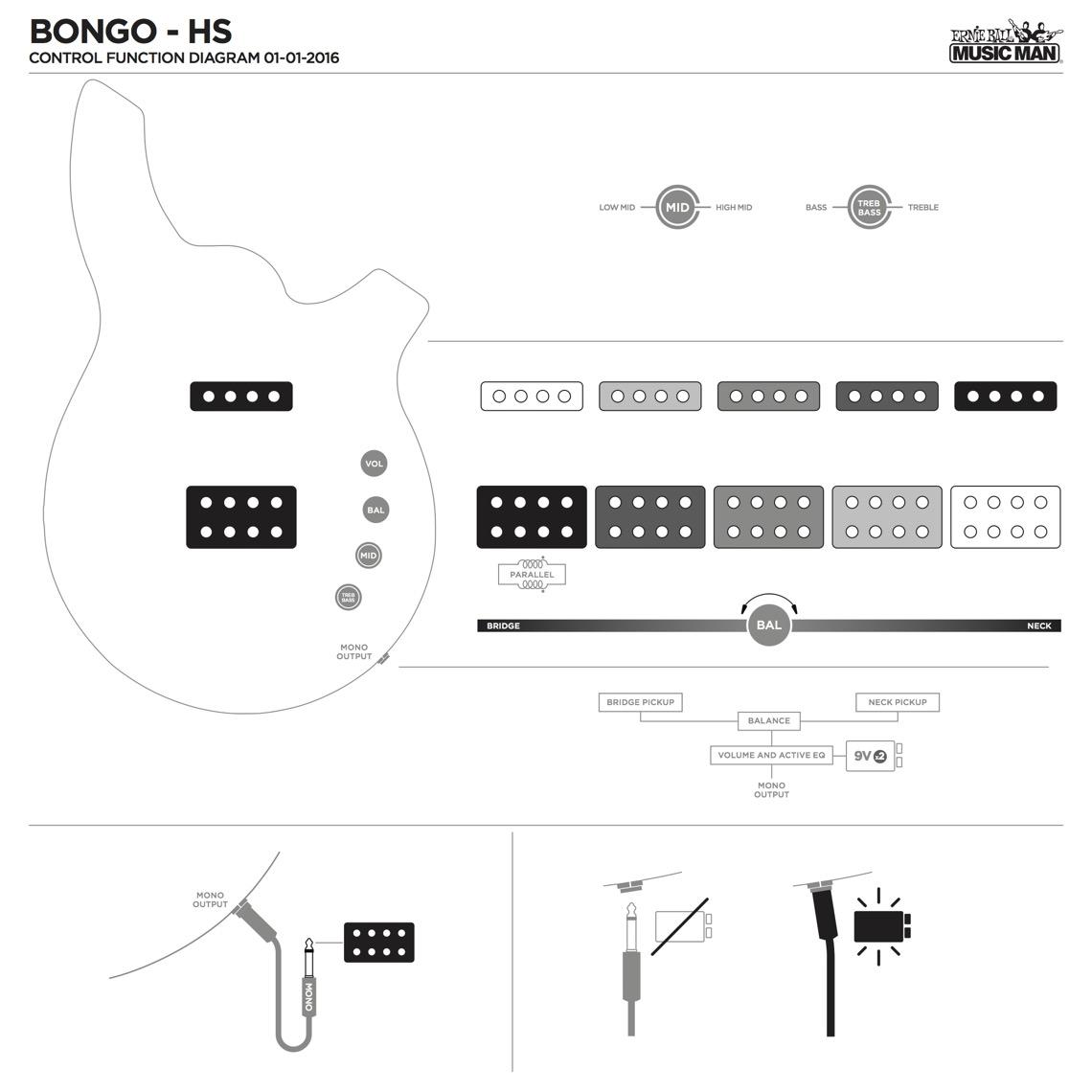 Active Bass Tone Controller Circuit Diagram
