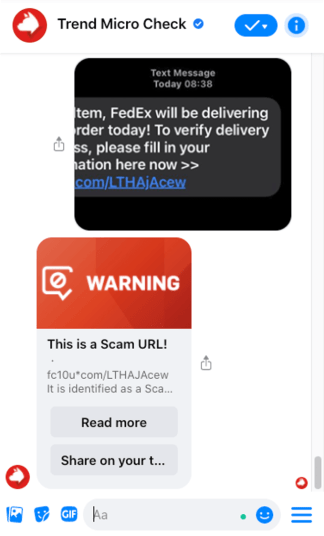 Use Trend Micro Check to verify if the link is safe.