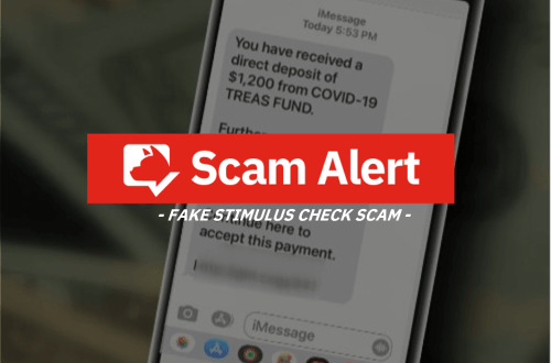 scam alert_fake stimulus check