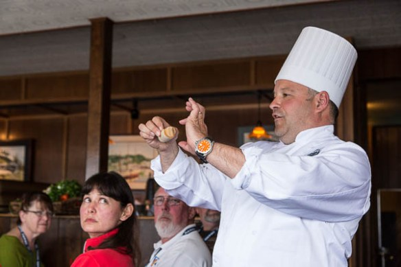 Archimedes Grand Banks Rendezvous Chef Bill Shaw cooking demo