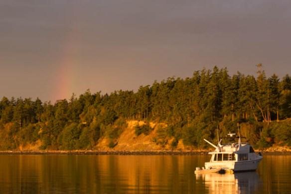 mv Archimedes Rainbow at Spenser Spit
