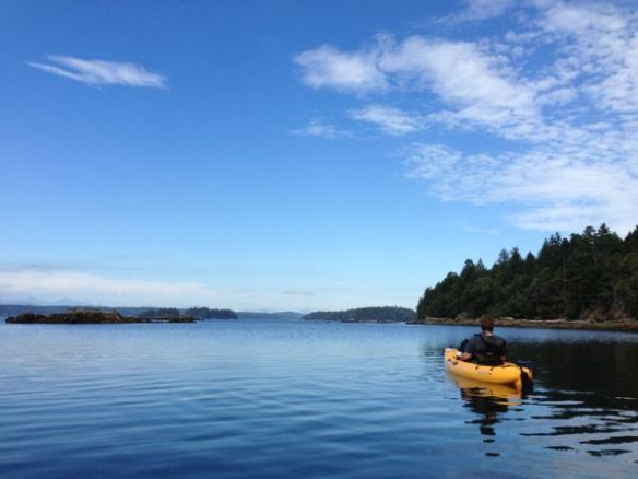 mv Archimedes Wallace Island Kim Hobie Kayak