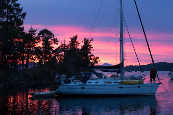 mv Archimedes Wallace Island Sunset 2