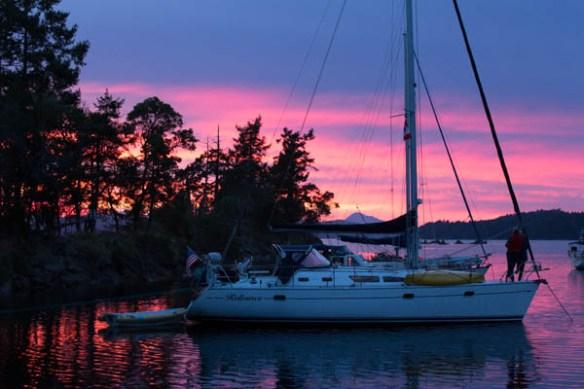 mv Archimedes Wallace Island Sunset 2