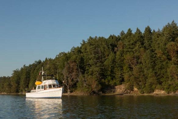 mv Archimedes anchored in Garrison Bay