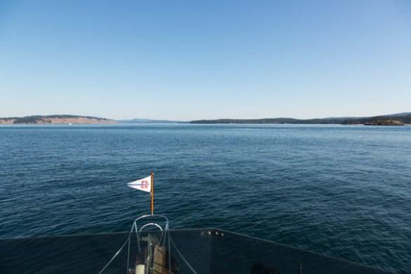 mv Archimedes heads for Roche Harbor