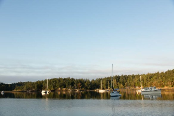 mv Archimedes morning in Garrison Bay