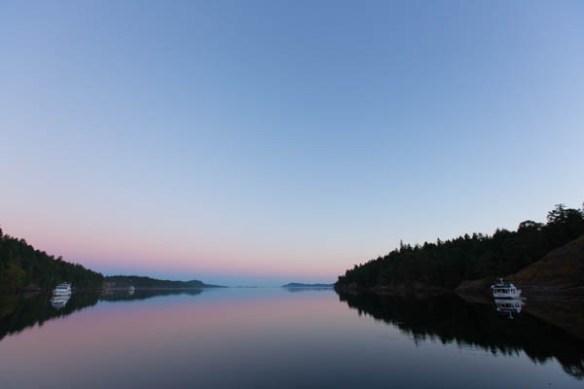 mv Archimedes morning in James Bay