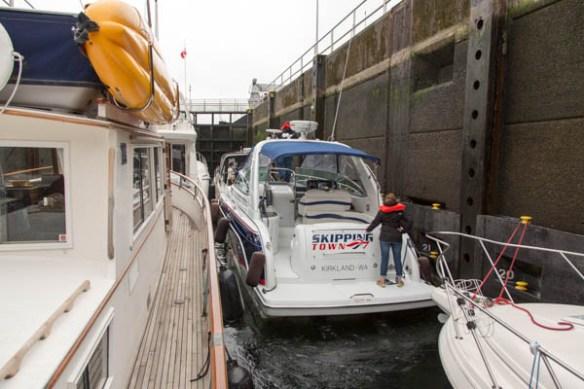 mv Archimedes returning through Chittenden Locks 2