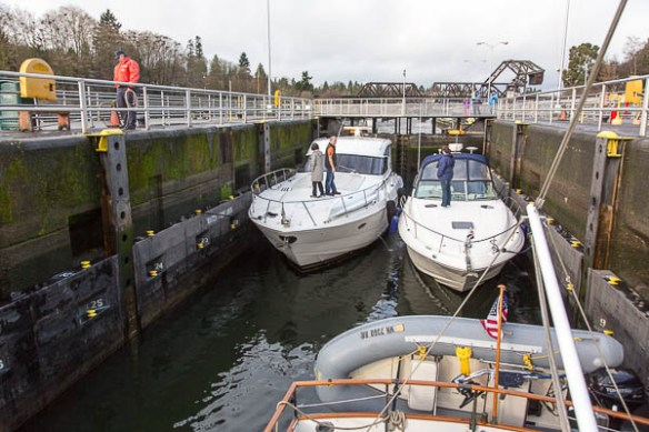 mv Archimedes Ballard Locks going up 1